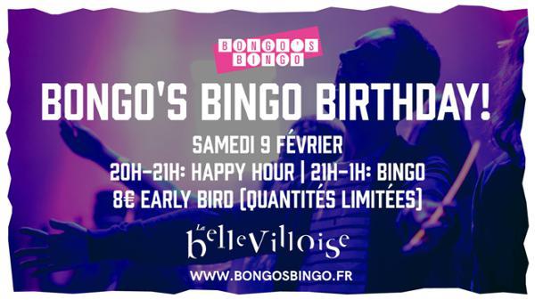 BONGO'S BINGO BIRTHDAY