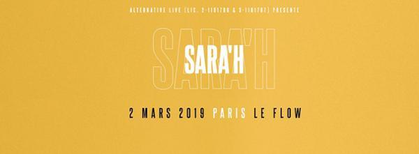 SARA'H EN CONCERT AU FLOW