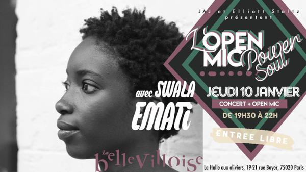 CAFE-CONCERT : OPEN MIC POWER SOUL FT. SWALA EMATI