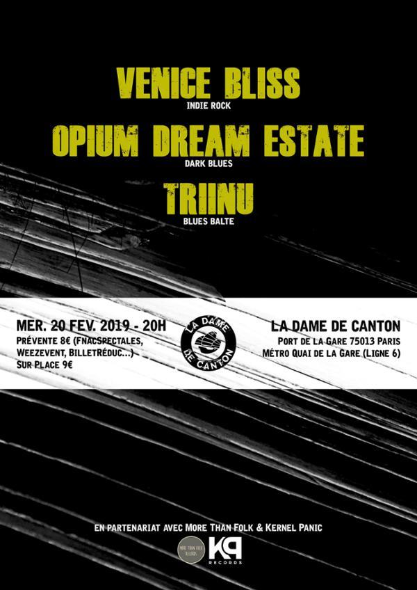 OPIUM DREAM ESTATE + VENICE BLISS + 1ère partie Triinu