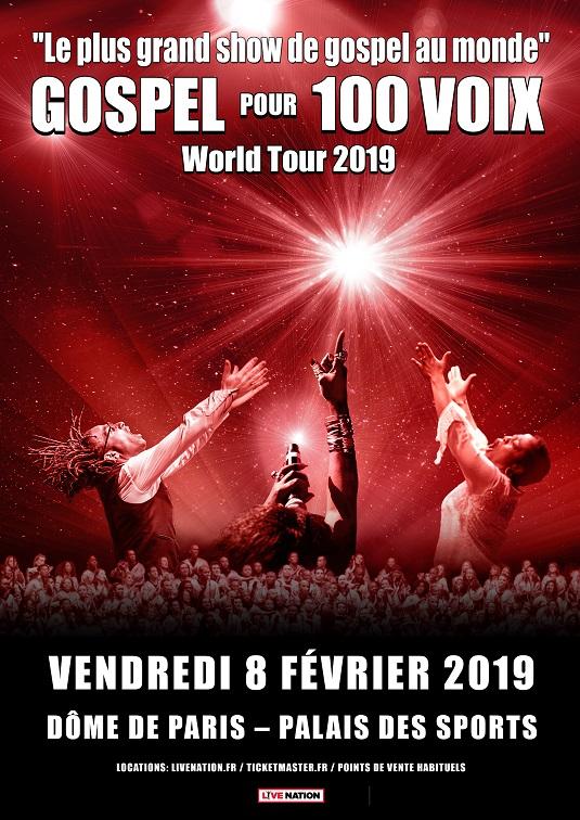 Gospel pour 100 voix - World Tour 2019