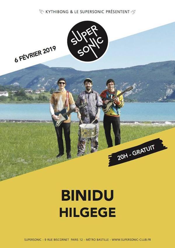 Binidu • Hilgege / Supersonic - Entrée gratuite