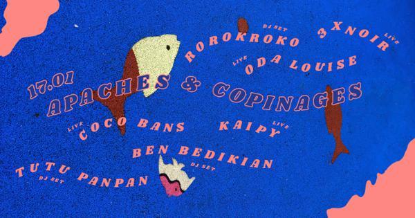 APACHES ET COPINAGES : 3XNOIR + ODA LOUISE + KAIPY + COCO BANS