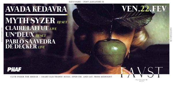 PiiAF: Myth Syzer, Claire Laffut(live), Pablo Saavedra, Un*Deux