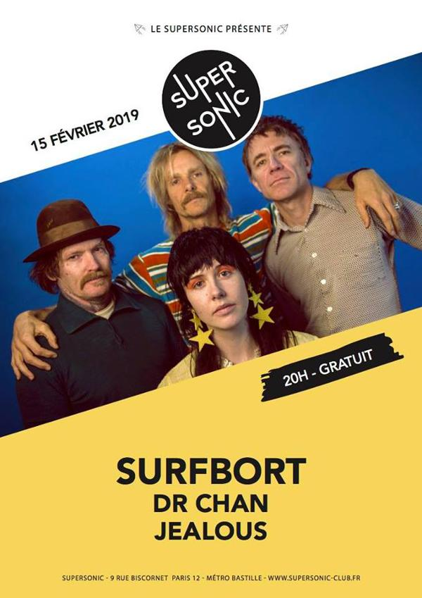 Surfbort • Dr Chan • Jealous / Supersonic (Free entry)
