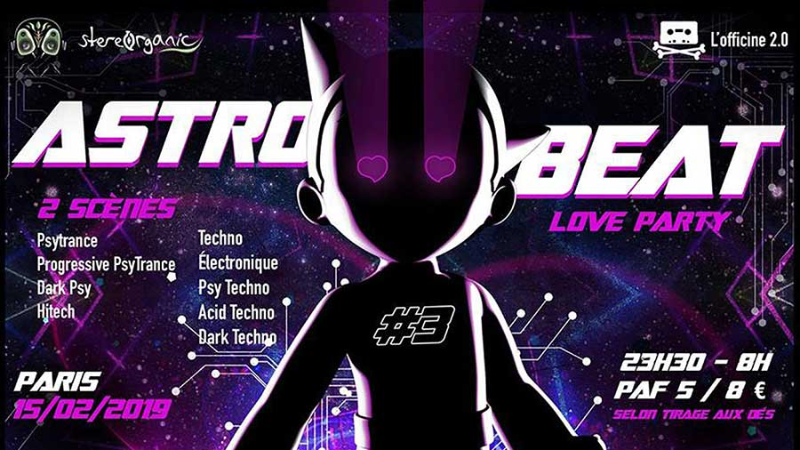 ASTRO BEAT #3 | Love party - Psytrance et Techno