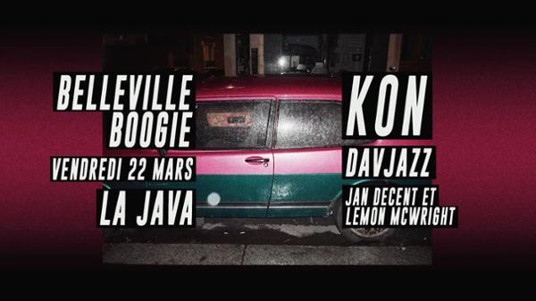 Belleville Boogie w Kon, Davjazz, Jan Decent & Lemon McWright
