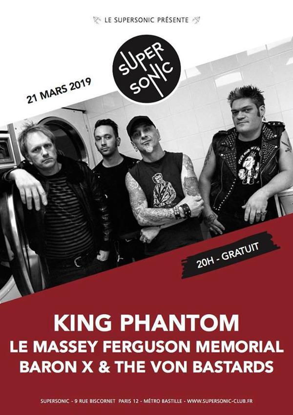 King Phantom • Le Massey Ferguson Memorial • Baron X & The Von Bastards