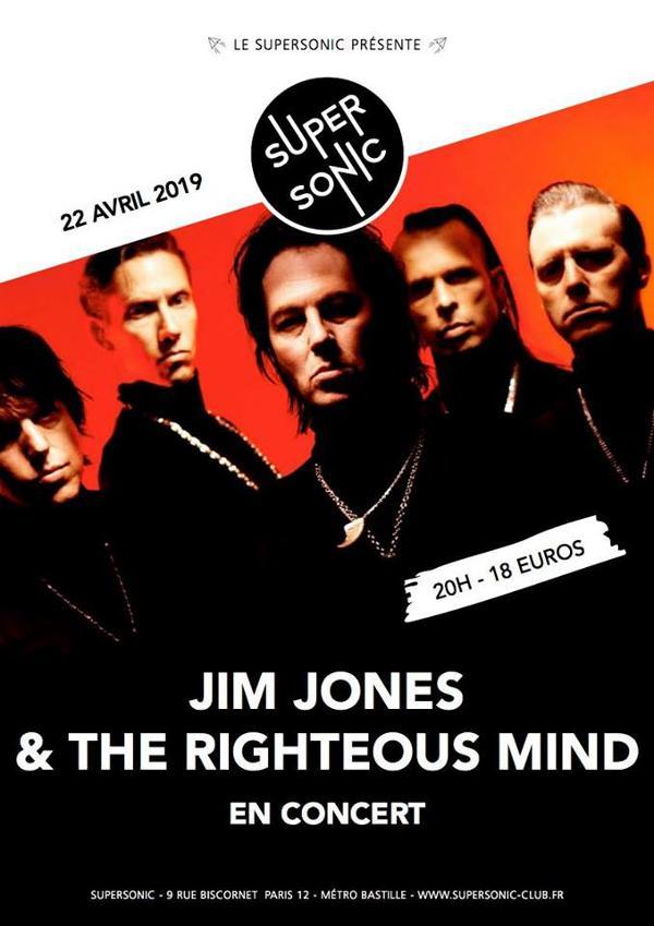 Jim Jones & The Righteous Mind au Supersonic • Concert évènement