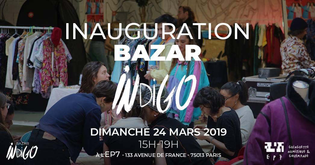 Bazar Indigo (24/03) : Braderie d'objets/vêtements gratuits, Ateliers, DJ et Concert