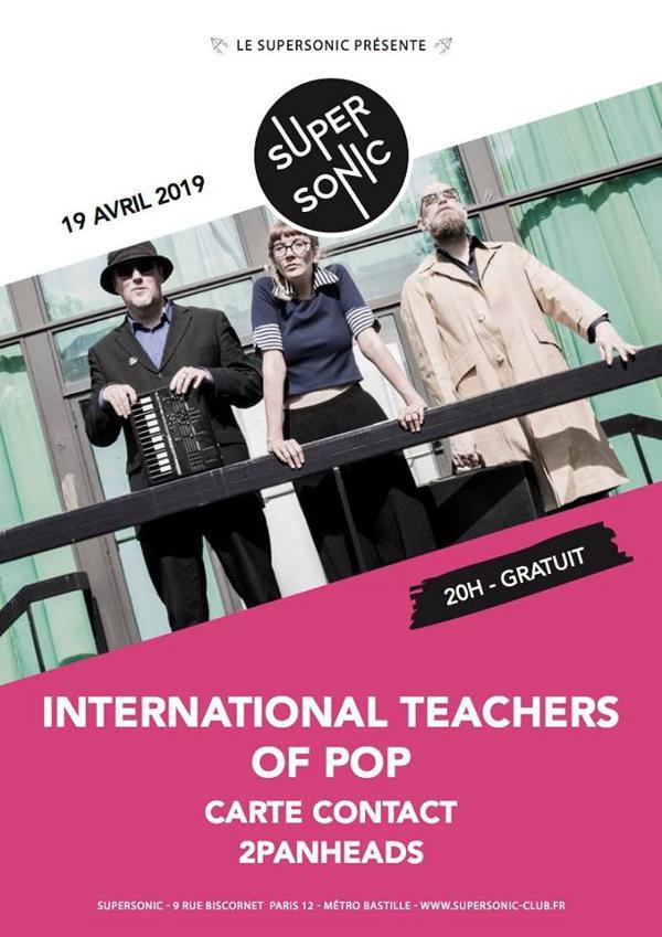International Teachers Of Pop • Carte Contact • 2PanHeads