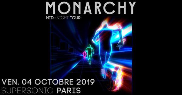 Monarchy en concert au Supersonic (Free entry)