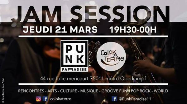 Jam session // groove funk pop rock reggae world - ColoKaTerre