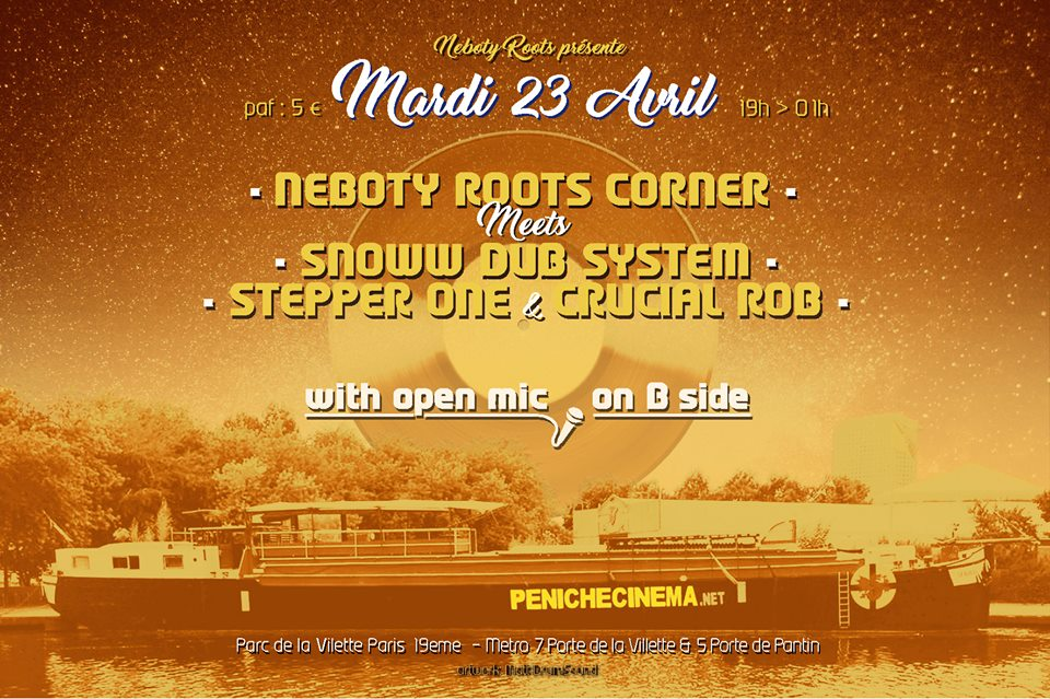 Néboty Roots Corner meets Snoww Dub System , Stepper One & Crucial Rob