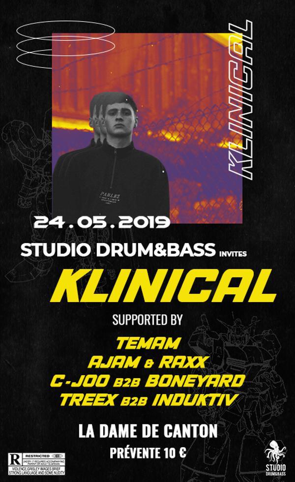 Studio Drum and Bass Invites Klinical