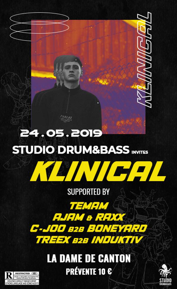 Studio Drum and Bass Invites Klinical
