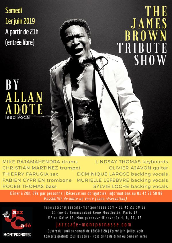 Allan Adote, The James Brown Tribute Show au Jazz Café