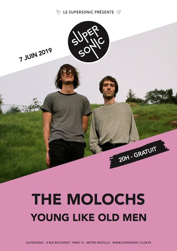 The Molochs • Young Like Old Men / Supersonic (Free entry)