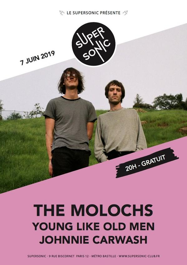 The Molochs • Young Like Old Men • Johnnie Carwash / Supersonic