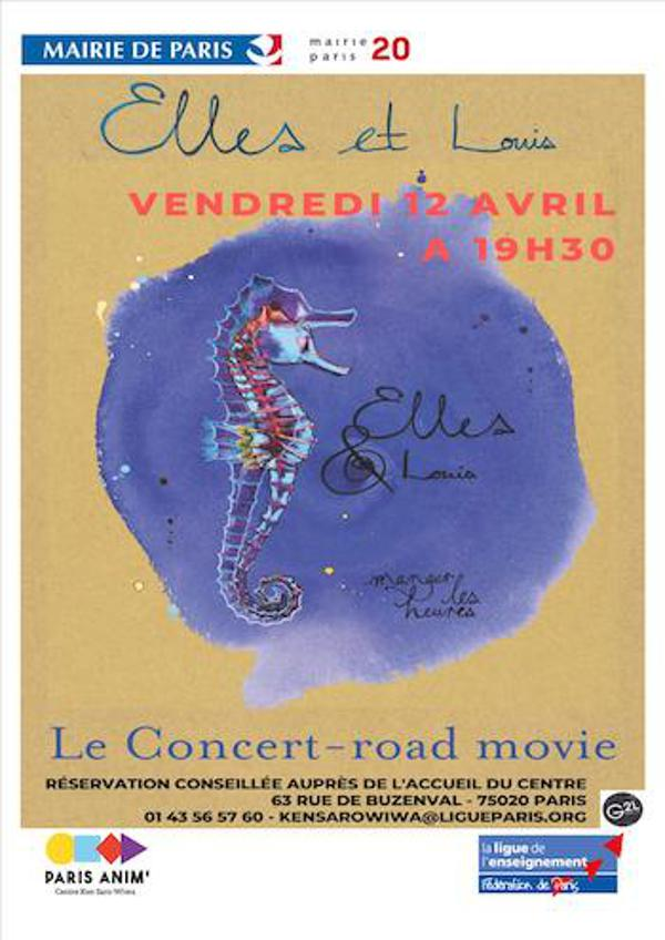 Elles & Louis ; Concert Road-Movie filmé