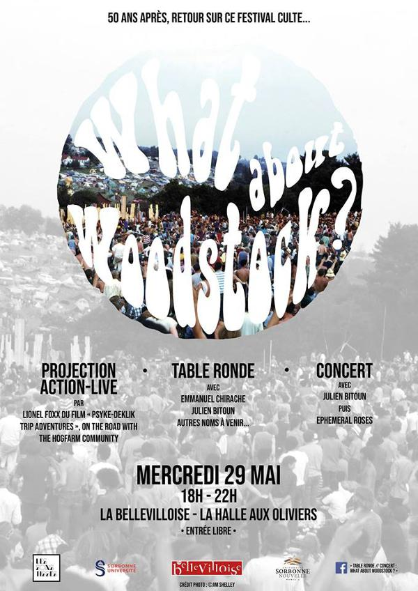 TABLE-RONDE + CAFÉ-CONCERT : WHAT ABOUT WOODSTOCK?