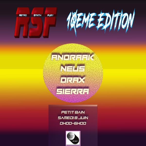 RETRO SYNTH FURY : ANORAAK + NEUS + ORAX + SIERRA