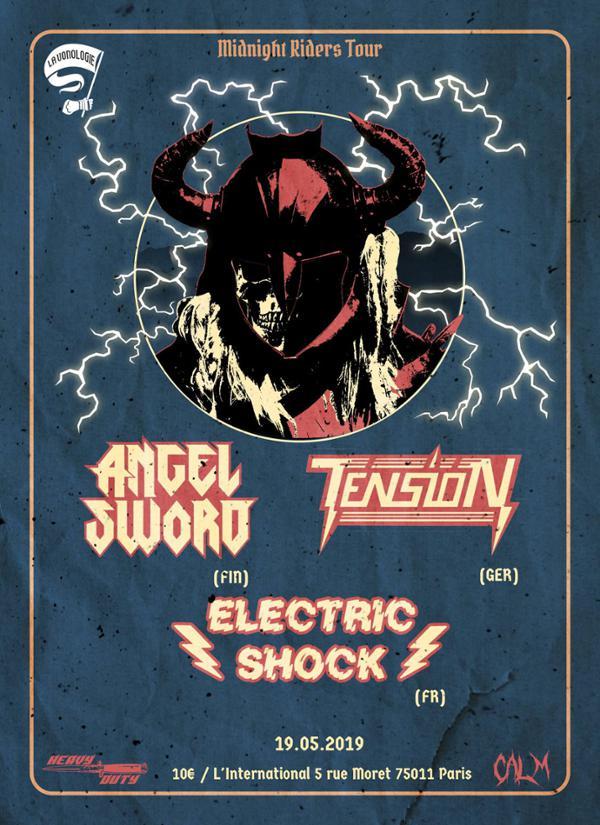 Angel Sword, Tension, Electric Shock L'International Paris