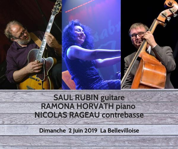 JAZZ BRUNCH : RAMONA HORVATH & NICOLAS RAGEAU INVITENT SAUL RUBIN