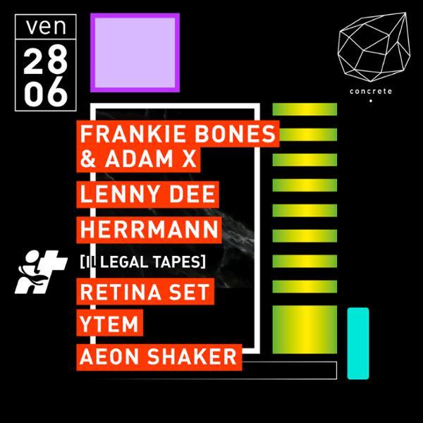 Concrete: Frankie Bones & Adam X, Lenny Dee, Herrmann