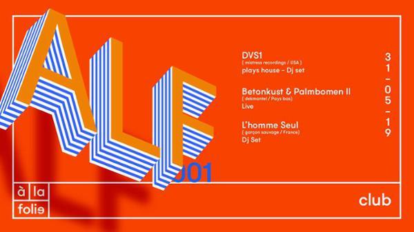 ALF 001 avec DVS1 • Betonkust & Palmbomen II • L'homme seul