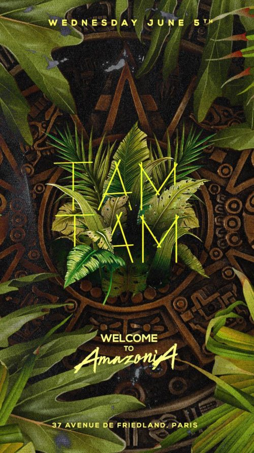 Wednesday JUNE 5th - TAM TAM