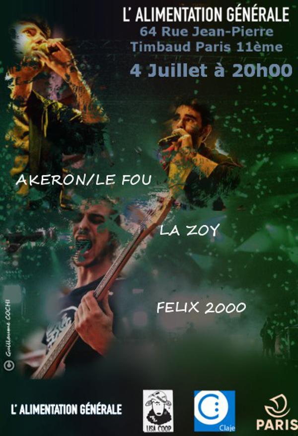 Release Party Akeron/Le Fou (Guests La Zoy, Félix 2000)