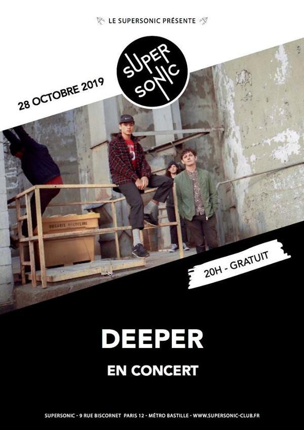 Deeper en concert au Supersonic (Free entry)