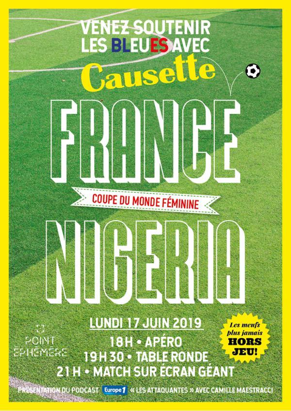 FRANCE-NIGÉRIA : VENEZ SOUTENIR LES BLEUES AVEC CAUSETTE !