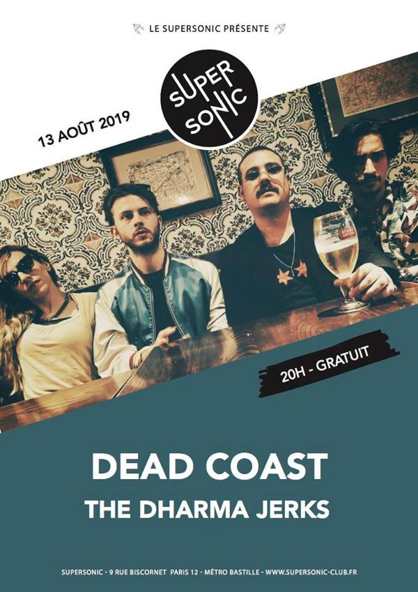 Dead Coast • The Dharma Jerks / Supersonic (Free entry)