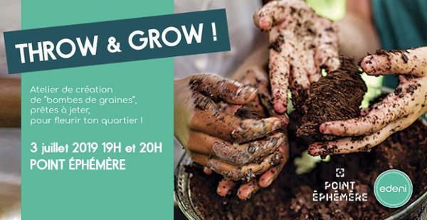 """THROW & GROW : ATELIER """"BOMBES DE GRAINES"""" PAR EDENI"""