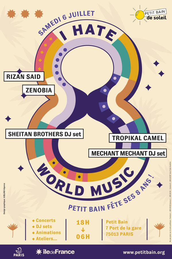 I 8 WORLD MUSIC : RIZAN SAID + ZENOBIA + SHEITAN BROTHERS DJ SET...