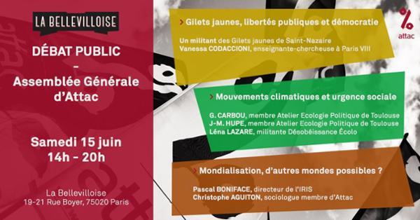 ASSEMBLÉE GÉNÉRALE D'ATTAC : DÉBATS PUBLICS