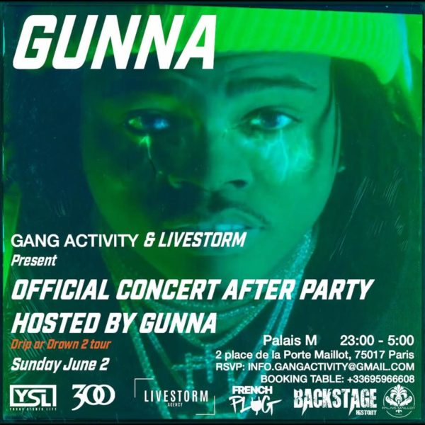 Gunna Officiel After Party Paris
