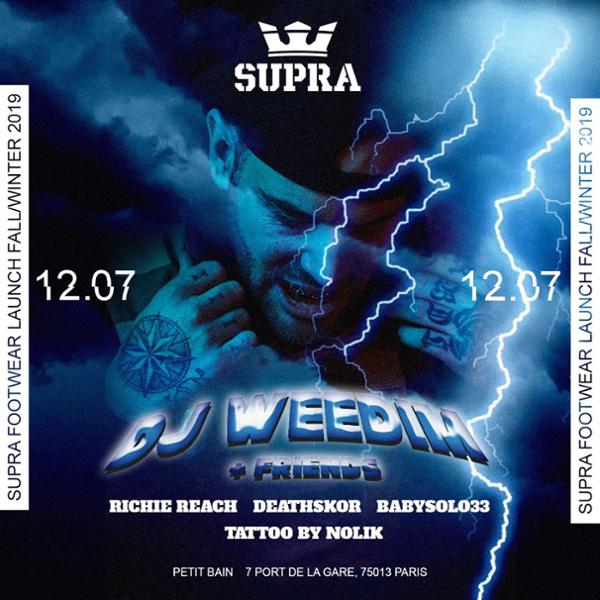 Supra Footwear Launch Fall/Winter 2019 w/ Dj Weedim & Friends