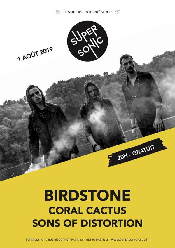Birdstone • Coral Cactus • Sons of Distortion (Free entry)