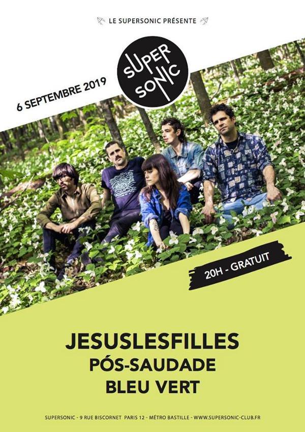 Jesuslesfilles • Pós-Saudade • Bleu Vert / Supersonic (Free)