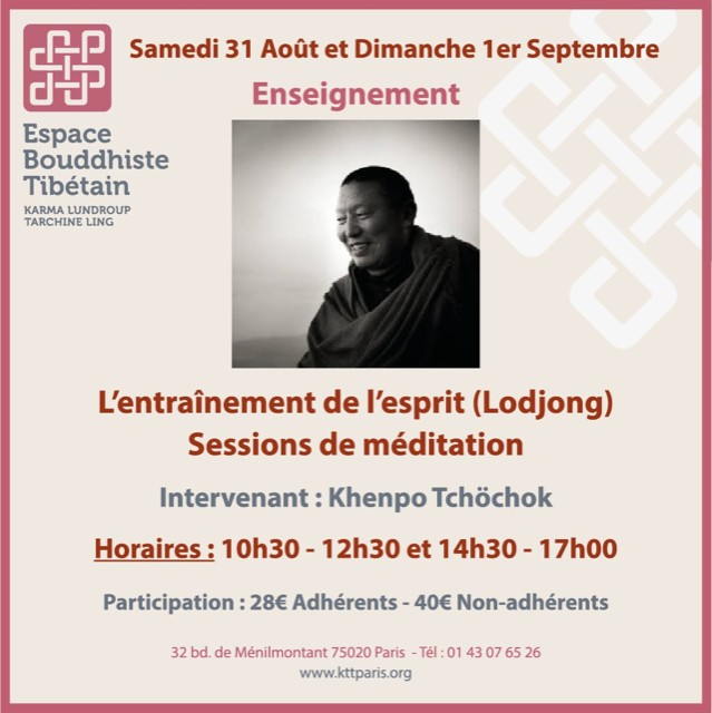 L'entraînement de l'esprit - Sessions de méditation
