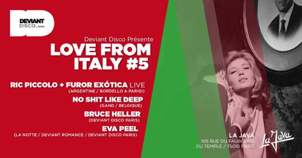 Love from Italy #5 - Ric Piccolo - No Shit Like Deep
