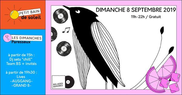 LES DIMANCHES PARESSEUX : BALADES SONORES = AUSGANG + GRAND 8 + SÉANCES YOGA + BRUNCH...