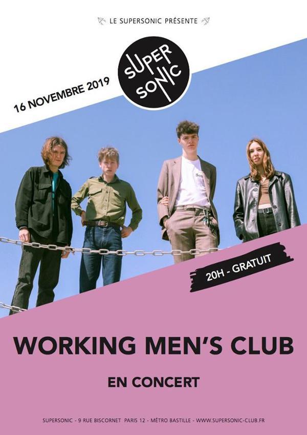 Working Men's Club (Heavenly Rec) en concert au Supersonic