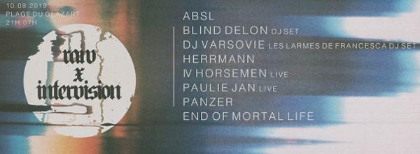 Intervision x RAW w/ ABSL, DJ Varsovie, Blind Delon & More