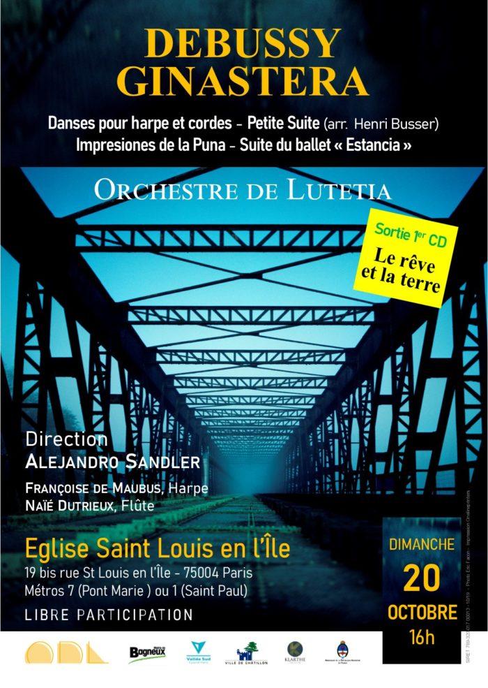 Concert Debussy et Ginastera avec l\'Orchestre de Lutetia