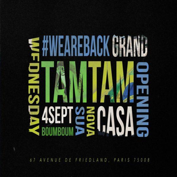 Wednesday, September 4th x TAM TAM x Opening Season 3