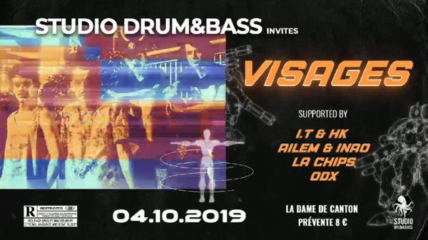 Studio Drum and Bass invites Visages